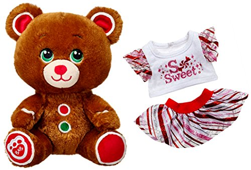 - Build a Bear Buddies Gingerbread Cookie Themed Teddy So Sweet 2 pc. Outfit Mini 7in. Stuffed Plush Toy Animal