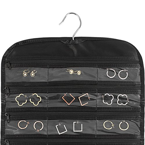 FloridaBrands 31-Pocket Hanging Jewelry and Accessory Organizer with Silver Hook - Black by FloridaBrands (Image #3)