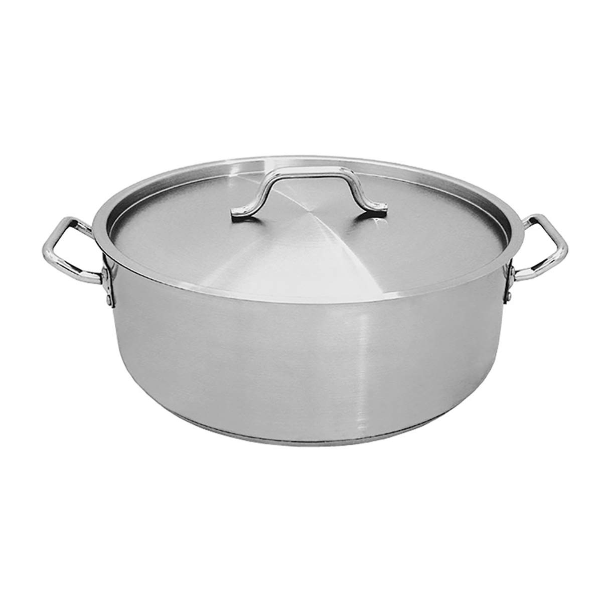 Update International SBR-20 20-Quart Stainless Steel Brazier with Cover, Silver