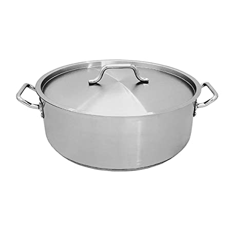 Update International SBR-20 20 Qt Stainless Steel Brazier w Cover
