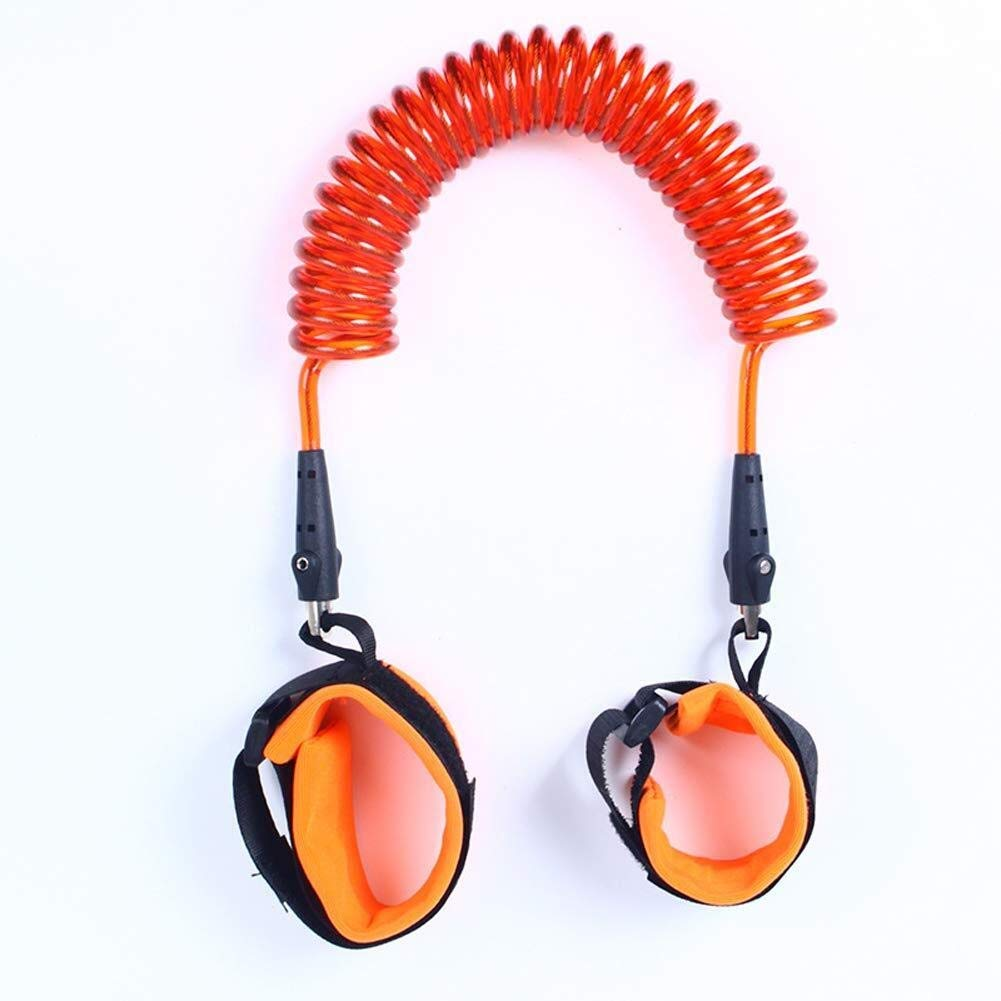 Children with Anti-Lost Traction Rope Rotating Head Anti-Lost Traction Rope (Color : Orange, Size : 2.5m)