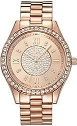 JBW Women's J6303C Analog Display Japanese Quartz Rose Gold Watch