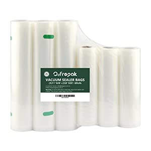 """6 Pack 8""""x20'(3Rolls) and 11""""x20' (3Rolls) Vacuum Sealer Rolls Commercial Grade Bag Rolls for Food Saver and Sous Vide, BPA Free and FDA Approval (Total 120 feet)"""