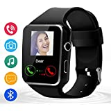 Bluetooth Smart Watch-Touchscreen Smart Wrist Watch With SIM/TF Card Slot,Camera Compatible with Android and IOS Phones For Men,Black