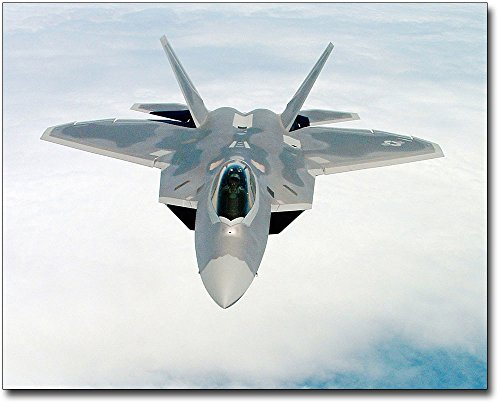 Air Force Aircraft Photos - F-22 Raptor Aircraft in Flight Air Force 11x14 Silver Halide Photo Print