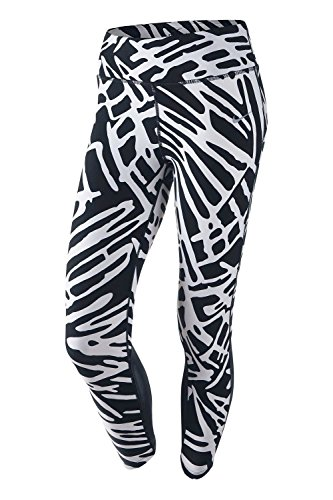 NIKE Womens Printed Dri Fit Athletic Leggings B/W XS