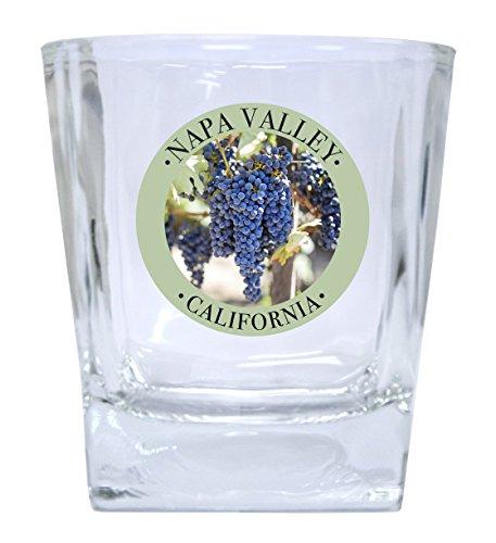 Napa Valley California Souvenir Wine Country Sonoma Grapes Whiskey Glass Set of 2