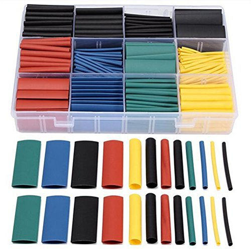 Daixers 530 Pcs 2:1 Heat Shrink Tubing Tube - Cold Shrink Tubing