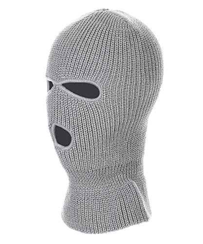 RufnTop Ski Mask for Cycling & Sports Motorcycle Neck Warmer Beanie Winter Balaclava Cold Weather Face Mask(3 Holes Grey One - Shops Ringwood