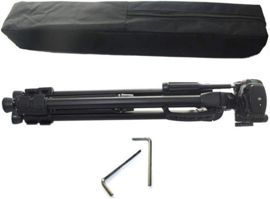 Color : Black, Size : One Size YonCog Tripod Durable Portable Aluminum Alloy Camera Tripod for DSLR Camera and Smartphones