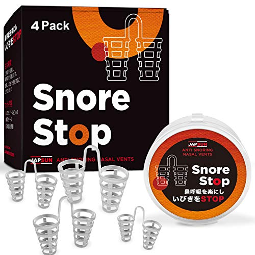 Snore Stopper Solution - Anti Snoring Nose Vents - Set of 4 Nasal Dilators - Natural Stop Snoring Devices - Reduce Snoring - Enhance Sleep