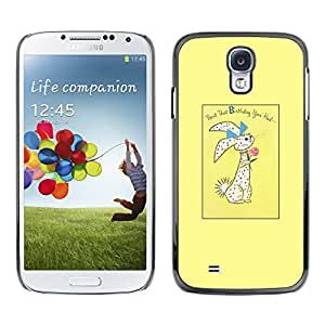 Paccase / SLIM PC / Aliminium Casa Carcasa Funda Case Cover para - Easter Bunny Holidays Rabbit - Samsung Galaxy S4 I9500