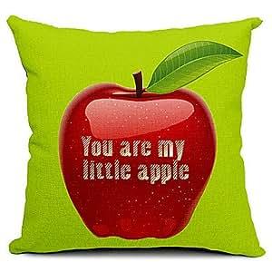 Reino Unido atractivo Apple funda de almohada de algodón/lino decorativo