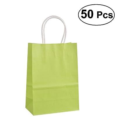TOYMYTOY 50 Unids Bolsas de Papel Kraft con Mango Bolsa de ...