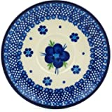 Polish Pottery Saucer 5-inch Bleu-belle Fleur