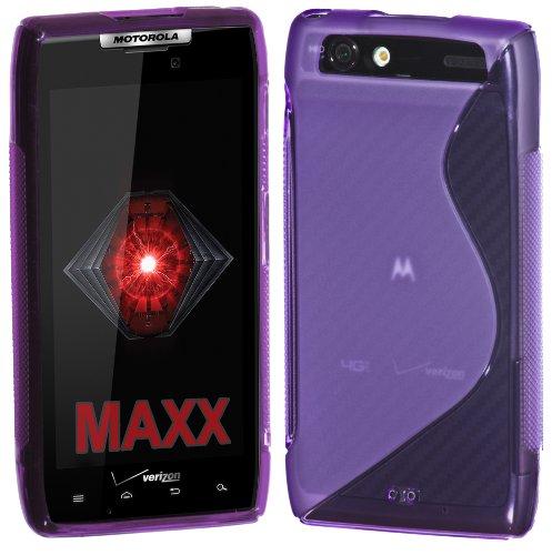 Cimo S-Line Flexible Back Cover TPU Case for Motorola DROID RAZR MAXX (Verizon) - Purple