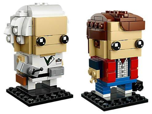 (LEGO 41611 Brickheadz Marty McFly (43) & Doc Brown)