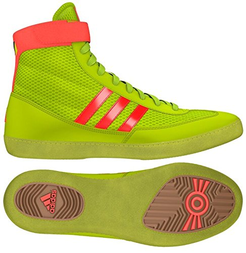 adidas Combat Speed 4 Youth Wrestling Shoes Solar Yellow/Solar Red Size 1.5 by adidas