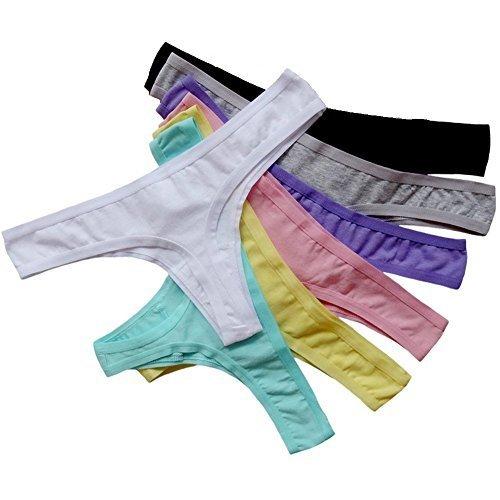 Closecret-Stringtangas für Frauen - einfach und komfortabel zu tragen (7er Set) (M(Taille: 68 cm ))