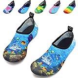 VIFUUR Kids Girls Boys Water Shoes Lightweight Barefoot Quick-Dry Aqua Yoga Socks for Beach Swimming KDeepSea 22/23
