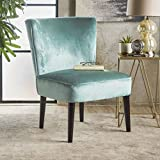 Cheap Petra Mid Century Turquoise New Velvet Club Chair