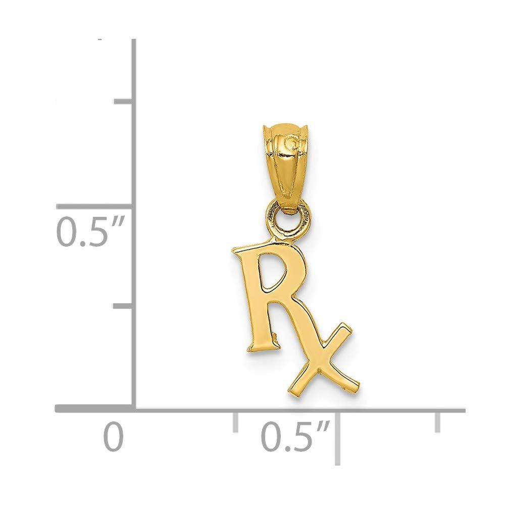 14K Prescription Symbol Rx Pendant