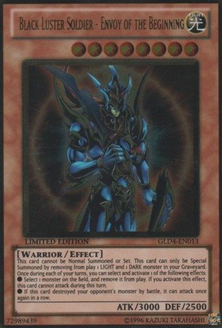 Yu-Gi-Oh! - Black Luster Soldier - Envoy of the Beginning (GLD4-EN013) - Gold Series 4: Pyramids Edition - Limited Edition - Gold - Envoy Series
