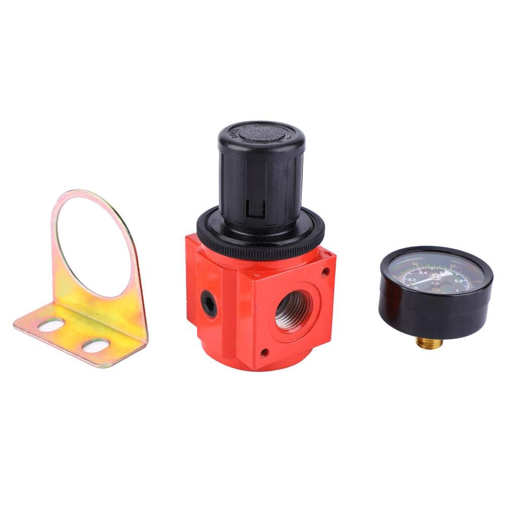 G1//2 Air Pressure Regulator Air Source Treatment Air Compressor Pressure Regulator Air Reduce Valve with Pressure Gauge for Pneumatic Instruments