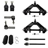 #8: Front Upper Control Arms w/Ball Joints Assembly & Lower Ball Joints + Inner & Outer Tie Rods 10pc Kit for 2000-04 Dodge Dakota 4WD - [2000-03 Dodge Durango 4x4]