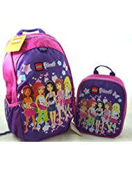 Lego Friends Heritage Classic 16 Backpack and Insulated Lunch Box Bundle