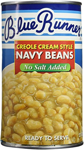 Canned Navy Beans (Blue Runner Foods Creole Cream Style Navy Beans, No Salt Added, 27 Ounce (Pack of 12))