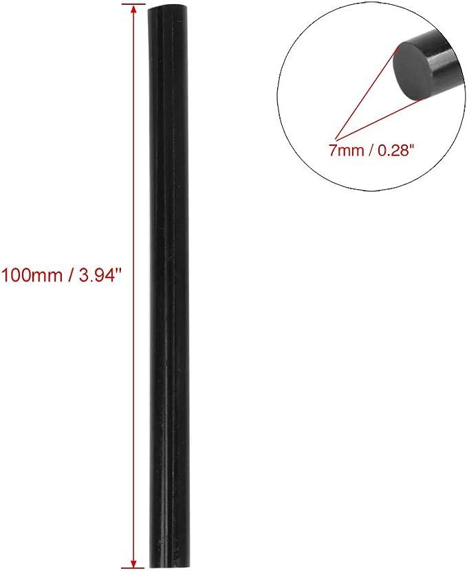 AutohAUX 7 x 100 mm Confezione da 20 Stick di Colla a Caldo per Riparazione ammaccature Colore Nero