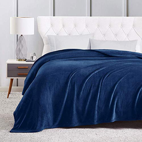 Sedona House Navy Flannel Fleece Blanket Twin Size 60