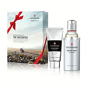 Victorinox Swiss Army Classic Eau de Toilette 3.4 Ounce Gift Set with Shower Gel