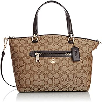 Coach Top Zip Canvas Satchel