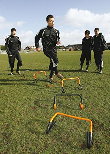 Precision Training Soccer Rugby Sport Adjustable Speed Agility Hurdle Set Of 6 by Precision Training