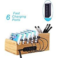 Lottogo USB Charging Station Multi-Port Desktop Charger with Smart IC for IOS and Other USB Devices