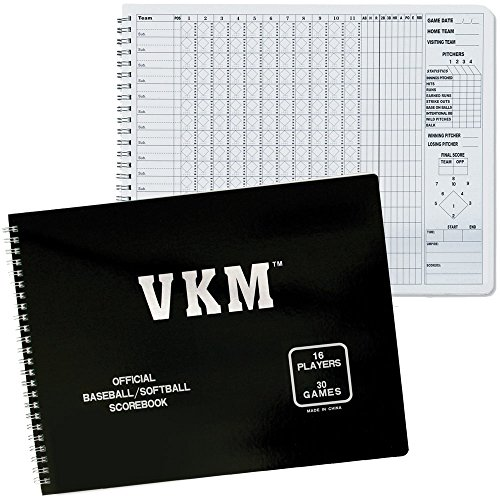 eball Softball 16 Player (30) Game Scorekeepers Scorebook (Official Game Softball)