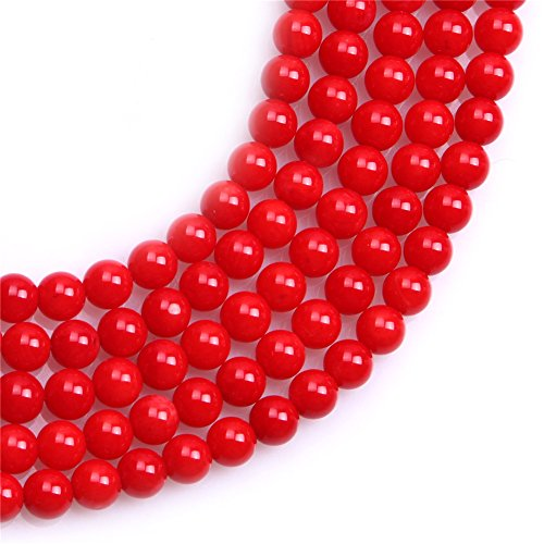 Red Coral Beads for Jewelry Making Gemstone Semi Precious 5mm Round 15
