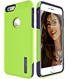 iPhone 6S Plus Case, TOTU Scratch Resistant Thin Dual Layer Protective Hybrid Case Shock Absorbing Technology Case for Apple iPhone 6 plus (2014) and iPhone 6S Plus (2015) - Lime Green/Blue