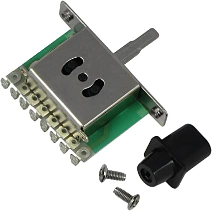 Musiclily Imported Style Metric 3 Way Selector Pickup Toggle Switch for Fender Tele Telecaster Strat Electric Guitar