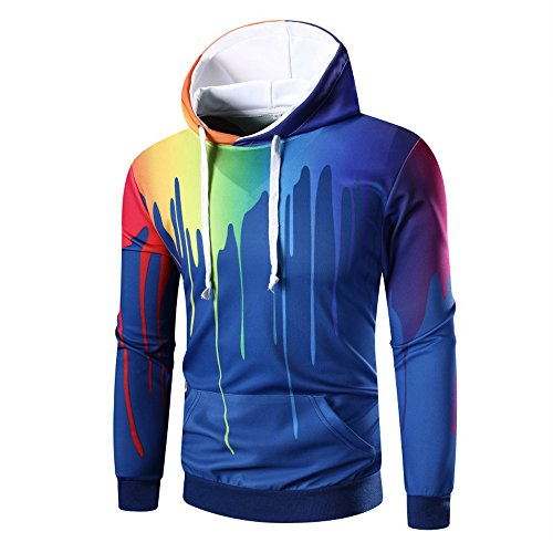 - Dressin Men's 3D Print Hoodies, Fashion Pullover Sweaters Shirt for Men Hooded Jacket with Pocket