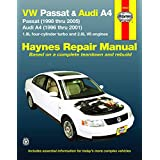 VW Passat & Audi A4: Passat (1998 thru 2005) & Audi A4 (1996 thru 2001) 1.8L 4-cylinder turbo and 2.8L V6 engines