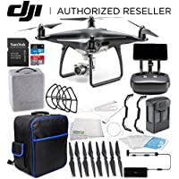 DJI Phantom 4 PRO+ PLUS Obsidian Edition Drone Quadcopter Includes Display (Black) Starters On-The-Go Bundle