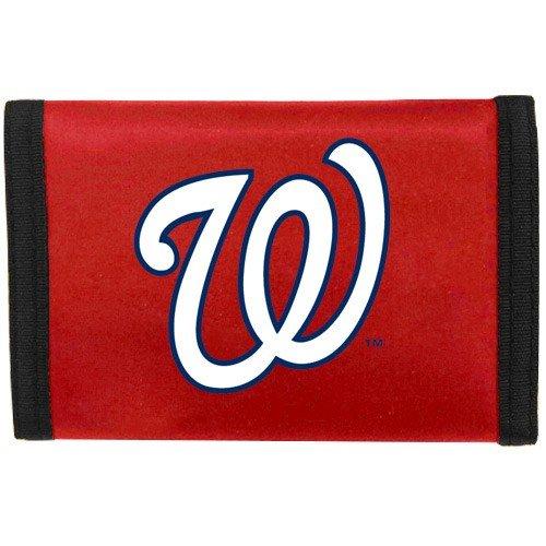 MLB Washington Nationals Rico Products MLB Nylon Wallet Washington Nationals, black, Small