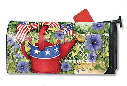 Studio M Fourth Of July Mailbox Cover Mail Wrap   Patriotic Watering Can