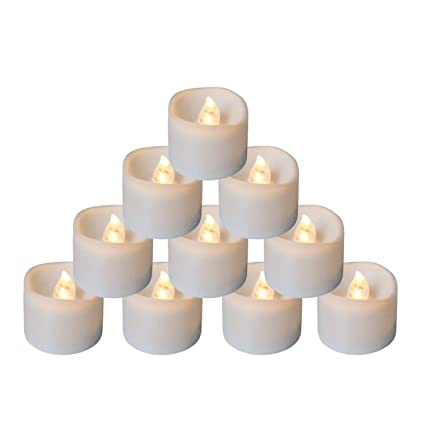 12pcs Electronic Led Candle Lights Flameless Tea Lamps Home Decoration For Wedding Birthday Christmas Attractive Designs; Home