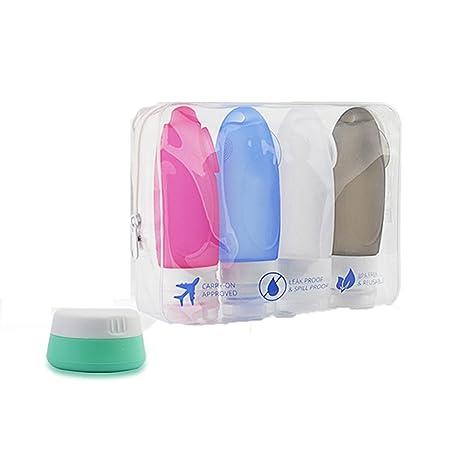 Botellas de silicona de viaje XinXu Viajes botellas Recipientes de Silicona Para shampoo, acondicionador,