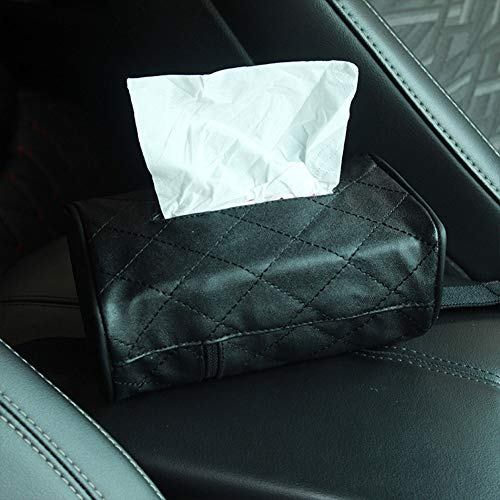QXYA Car Paper Towel Storage Box Car Armrest Box Tissue Box Auto Sun Visor Tissue Box Car Accessories Tissue Box Car Sunroof Tissue Box Sun Visor Hanging Multi-Function Creative