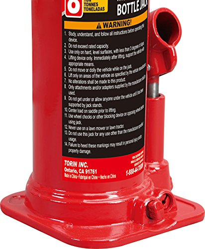 Torin Big Red Hydraulic Bottle Jack, 8 Ton Capacity by Torin (Image #8)